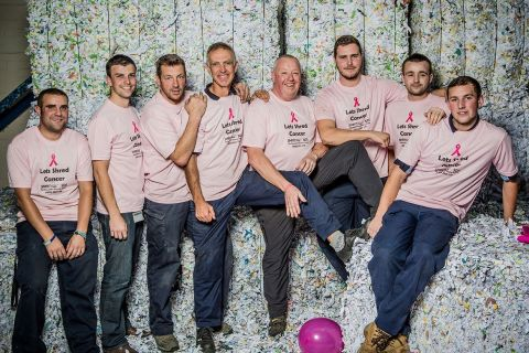 Shredall and SDS turn pink for breast cancer!